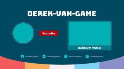 Retro-Styled YouTube End Card Template with a Bottom Frame 1431e