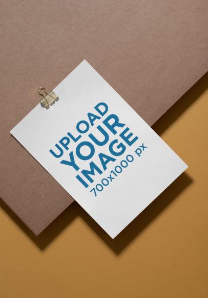 A4 Flyer Mockup on a Minimalistic Background 27223