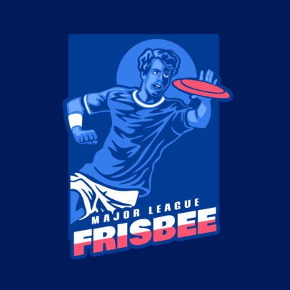 Frisbee League Logo Maker 2223a