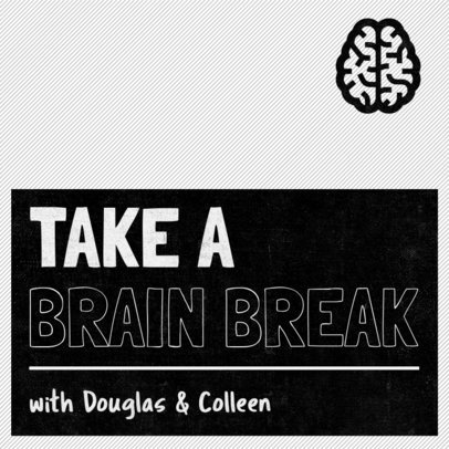 Podcast Cover Maker Featuring a Brain Clipart 1497b