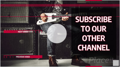 Music-Themed Youtube End Screen Video Maker 1619