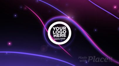 Logo Reveal Video Maker with Particles and Stripes 1664