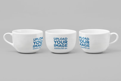 Mockup of Three 24 oz Mugs 27892