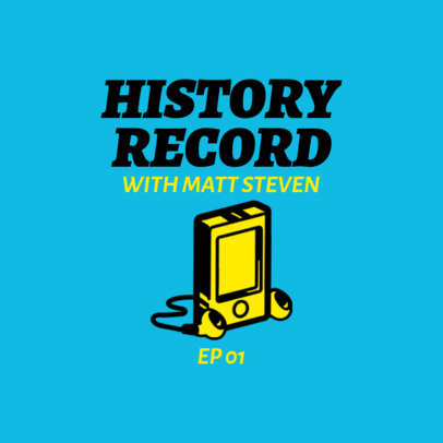 PPodcast Cover Template for History-Related Shows 1498e