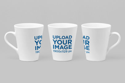 Mockup of Three 11 Oz Mugs in Different Perspectives 27891