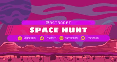 Twitch Banner Creator with a Space Background 1450a