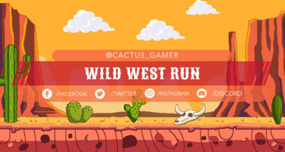 Twitch Banner Generator Featuring a Retro Wild West Mountain Scenario 1450e