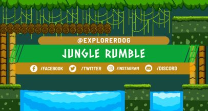 Twitch Banner Maker with Retro Jungle Background 1450d