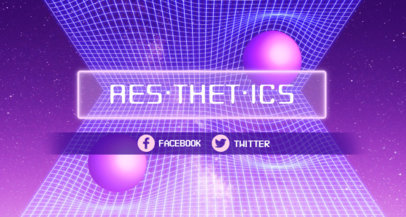 Twitch Banner Maker with Vaporwave Aesthetics 1502e