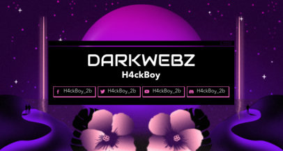 80's Styled Twitch Banner Maker Featuring Hibiscus Flowers 1503i