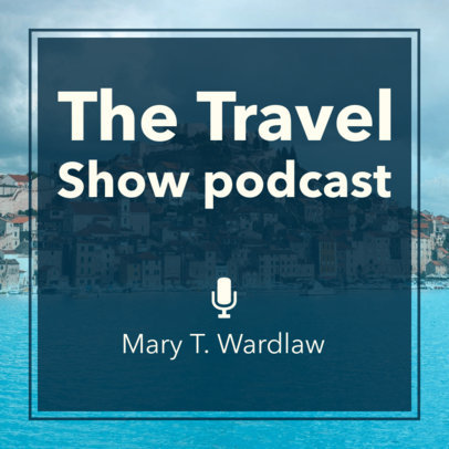 Podcast Cover Maker for a Travel Show 1500b
