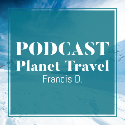 Podcast Cover Creator Featuring a Snowy Scenario 1500d