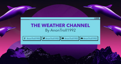 Twitch Banner Template with Floating Dolphins Clipart 1503k