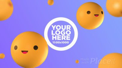 Logo Reveal Intro Maker with Smiling 3D Emojis 1698