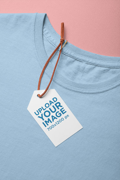 Mockup of a Brand Tag on a T-Shirt 27660