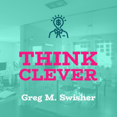 Productivity-Themed Podcast Cover Maker 1492b