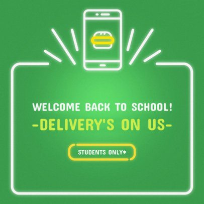 Banner Maker for Back to School Promo with Neon Graphics 311f