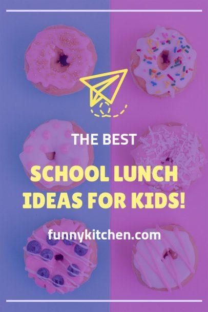 Pinterest Pin Maker of School Lunch Ideas 1121g