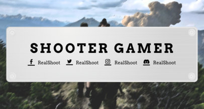 Twitch Banner Template for a Shooting Game 1455a