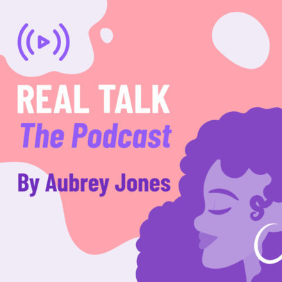 Podcast Cover Template for Female-Hosted Talk Shows 1491b