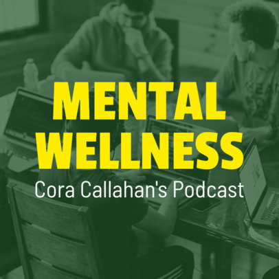 Podcast Cover Template for Mental Health Topics 1492d
