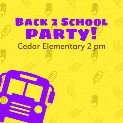 Instagram Post Maker for a Back to School Party Announcement 563h-1527