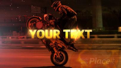 Motocross Themed Logo Reveal Video Maker 1453