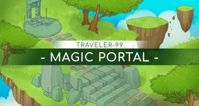 Twitch Banner Maker with a Nature Fantasy Land 1454d