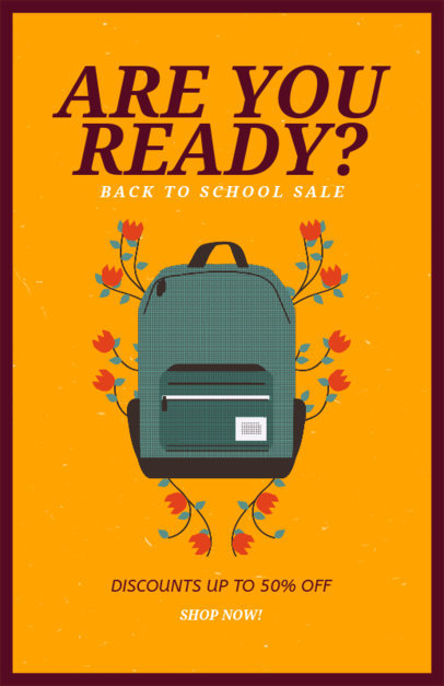 Back to School Supplies Sale Flyer Generator 192i