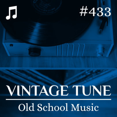 Podcast Cover Maker with a Vintage Vinyl Player 1490e