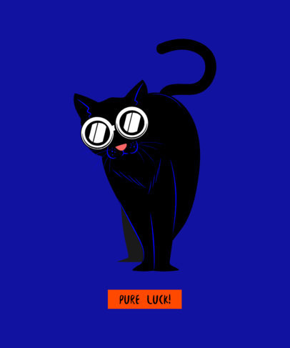 Pure Luck T-Shirt Design Creator for Cat Lovers 1512h
