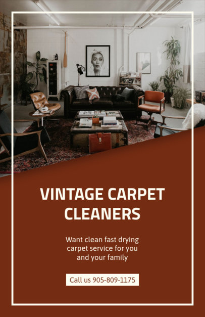 Online Flyer Maker for Carpet Cleaners 295d
