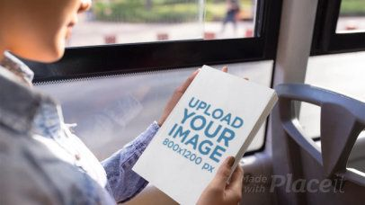 Stop Motion Video of Woman Reading a Book on a Bus 13743