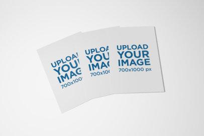 Minimal Mockup Featuring Three A5 Bi-Fold Brochures Against a Plain Background 37-el