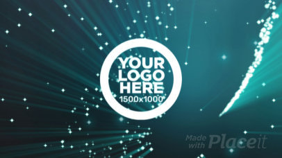 Logo Intro Maker with Dazzling Particles Spinning