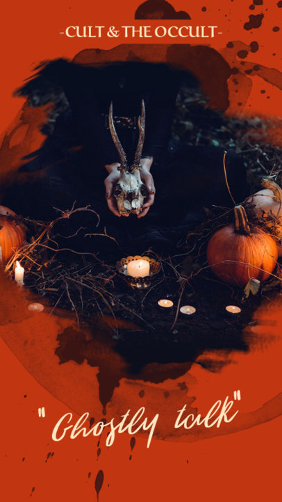 Halloween Instagram Story Template with for Occultism Themes 593g