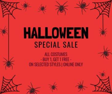 Halloween-Themed Facebook Post Maker for an Online Sale 622j