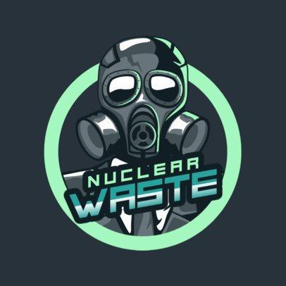 Gaming Logo Generator with a Toxic Mask Illustration 1747i