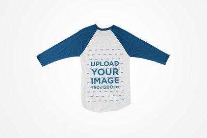 Flat Lay Mockup of a Raglan Shirt with a Solid Background 124-el