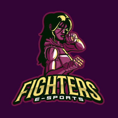 Fighting Gaming Logo Maker Featuring a Female Character 383m
