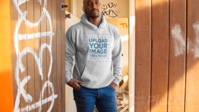 Pullover Hoodie Video Featuring a Man in an Abandoned Building 13126
