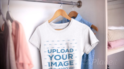 Video of a T-Shirt Close-Up in a Girly Closet