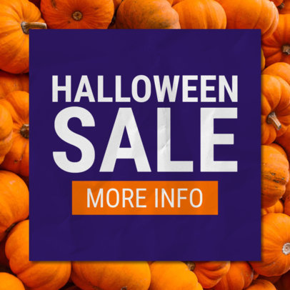 Halloween Sale Online Banner Template with Pumpkin Graphics 546i