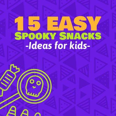 Instagram Post Maker for Halloween Snacks for Kids 563i