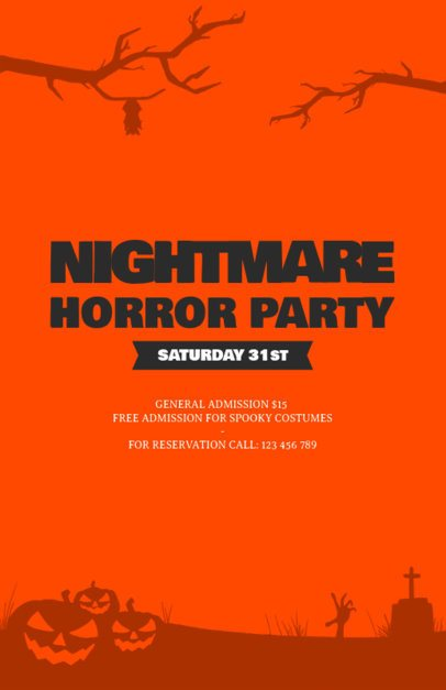 Online Flyer Template for a Spooky Costume Party 196f