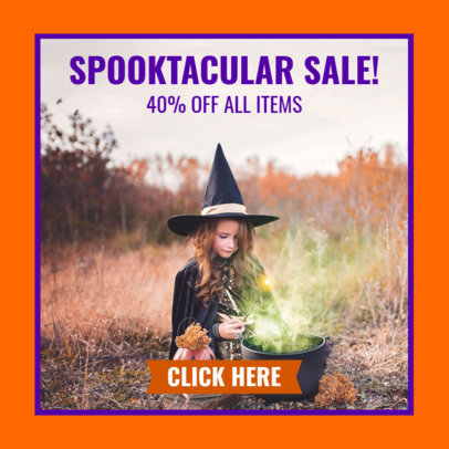 Simple Online Banner Maker for a Halloween Clearance 16644h