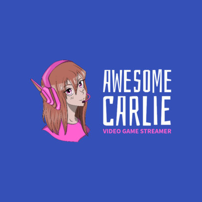Gaming Avatar Logo Maker with Anime Characters 2294h