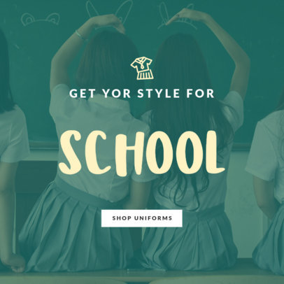 School Uniforms Sale Online Banner Maker 754i