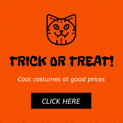Ad Banner Creator for Halloween Costume Sales 16614h