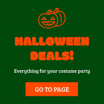 Cool Ad Banner Template Featuring Halloween Clipart